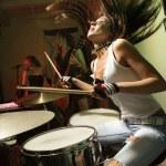Girl band. — Stock Photo