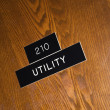 Utility sign. - Foto de Stock  