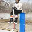 Ice hockey player. - Foto Stock