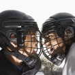 Ice hockey face off. — Stock Photo