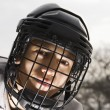Ice hockey player boy. — Stock Photo #9224711