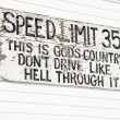 Funny speed limit sign. — Stock Photo #9224927