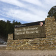 Stock Photo: Mount Rushmore sign.