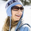 Woman in ski cap. — Stock Photo