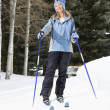 Female skier. — Stock Photo