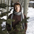 Teen in winter setting. — Stock Photo #9225682