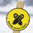 Snowshoe trail sign. — Stock Photo