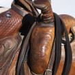 Stock Photo: Detail of Horse Saddles