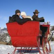 Sleigh ride in winter. — Stock Photo
