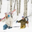 Couple on ski vacation. — Fotografia Stock  #9226528