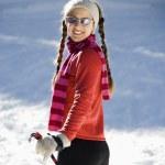 Female Snow Skiier — Stock Photo