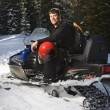 Mon snowmobile. — Stock Photo #9226917