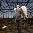 Young Businessman With Angel Wings - Stockfoto