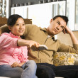 Couple watching TV. — Stock Photo #9227411
