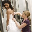 Seamstress helping bride. — Stock Photo #9227532