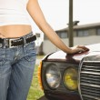 Sexy woman with car. — Stock Photo
