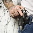 Stock Photo: Man with gun.