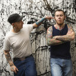 Stock Photo: Tattooed men.