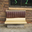 Bench seating outside. — Stock Photo