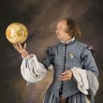 Shakespeare with globe. — Stock Photo
