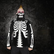 Постер, плакат: Punk with skeleton costume
