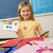 Young Girl in Art Class — Stock Photo #9228225