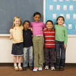 Students Standing in Classroom. — Stock Photo