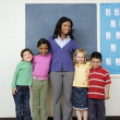 Stock Photo: Teacher with Students