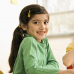 Girl in Classroom — Stock Photo #9228319
