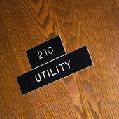 Signo de utilidad. — Foto de Stock