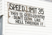 Funny speed limit sign. — Stock Photo