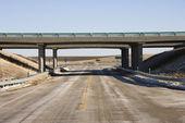 Highway with bridge. — Stock Photo