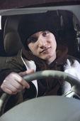 Teen in car. — Stock Photo
