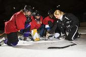 Women hockey players. — Foto de Stock