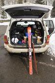 Vehicle with skis. — Stock Photo