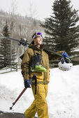 Man in ski gear. — Stock Photo