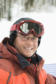 Portrait of Smiling Male Skier — Stock Photo