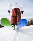 Man on skis. — Stock Photo