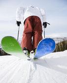Man on skis. — Stock Photo