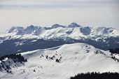 Snow covered mountains. — Stock Photo