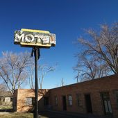 Rundown motel. — Stock Photo