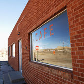 Front of cafe. — Stock Photo