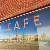 Cafe window. — Stock Photo