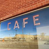Cafe window. — Stock Photo