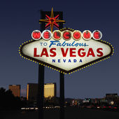 Las Vegas welcome sign. — Stock Photo