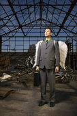 Businessman With Angel Wings — Stock Photo