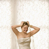Stressed bride. — Stock Photo