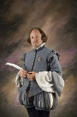 Shakespeare with feather pen. — Stok fotoğraf