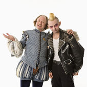Shakespeare a goth muž. — Stock fotografie