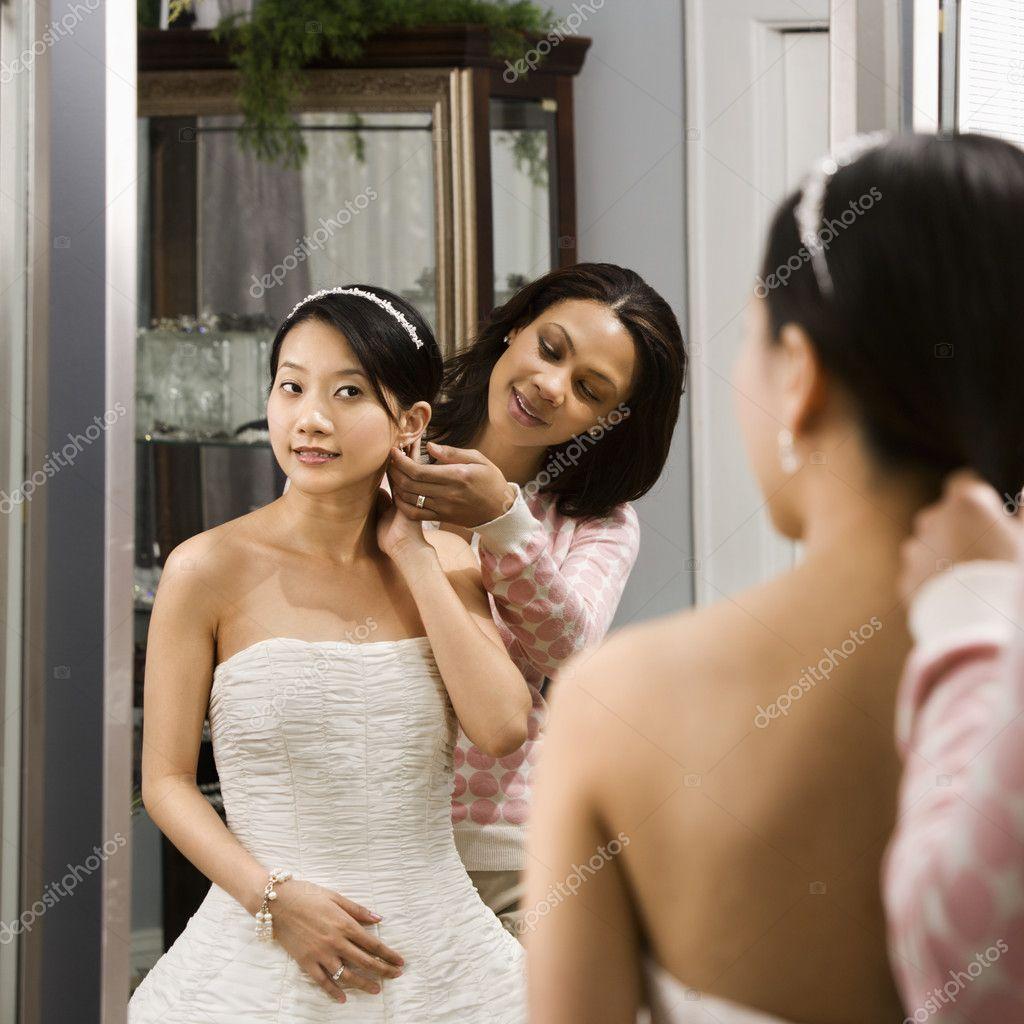 С азиатскими невестами 27 фотография